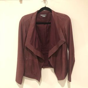 Vince XS merlot leather jacket